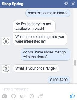 Product recommendation through chatbot