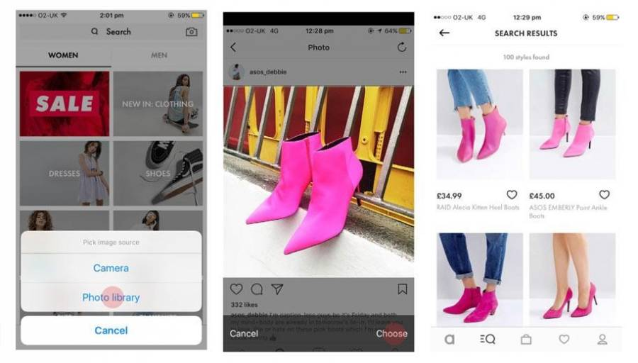 ASOS also uses visual search technology