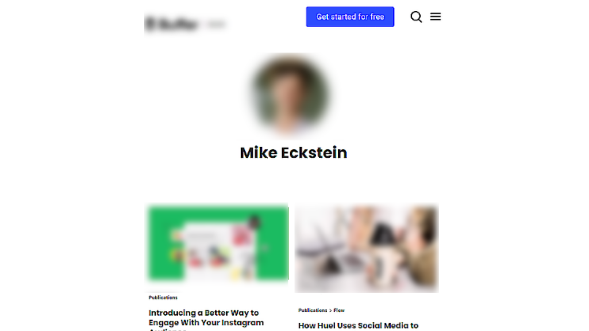 Author Bio example from Buffer blog.